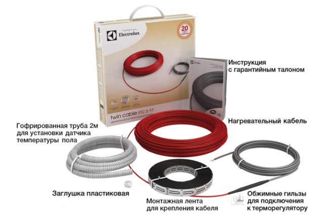 Комплектация теплого пола Electrolux Twin Cable