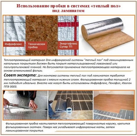 Памятка об использовании фольгированной теплооотражающей подложки