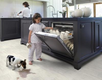 Влагостойкий ламинат на кухню