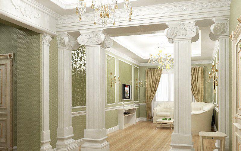 комната с колоннами