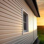 дом и закат